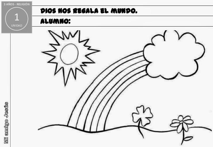 Mi clase de religin: Dibujos para colorear Infantil